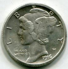 1916 S  Mercury Dimes AU58