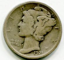 1921  Mercury Dimes F12
