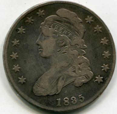 1835 Capped Bust Half Dollar VF20