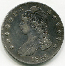 1834 Capped Bust Half Dollar VF30  Small Date and Letter