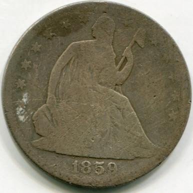 1859  Seated  Liberty Half Dollar G