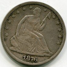 1876  Seated  Liberty Half Dollar  XF45