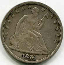 1876  Seated  Liberty Half Dollar  XF45