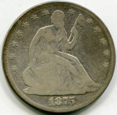 1875  Seated  Liberty Half Dollar  G