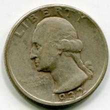 1932 D  Washington Quarter  VG