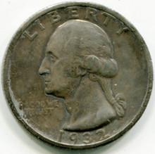 1932 S  Washington Quarter  VF