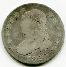 1820 Capped Bust Quarter VG