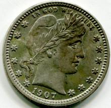 1907 Barber Quarter AU