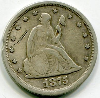 1875 S Twenty Cents  Net F
