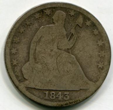 1843 O Liberty Seated Half Dollar  G