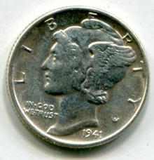 1941 Mercury Dime AU58