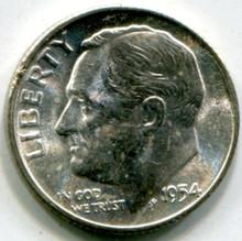 1954 Roosevelt Dime MS61