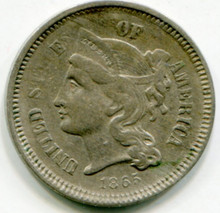 1865 Three Cents F15