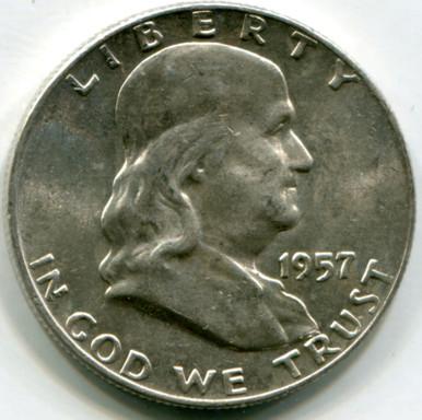 1957 D Franklin Half Dollar MS63 FBL