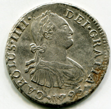 1795 IJ Peru 2 Reales KM#95 AU