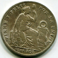 1911 FG Peru 1/5 Sol KM#205.2  F15