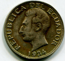 1934 Ecuador Sucre XF