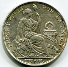 1916  FG Peru Sol KM#196.8  UNC