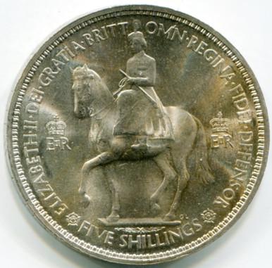 1953 Great Britain Crown KM#894  UNC   Nickel