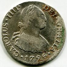 1796 IJ Peru 2 Reales KM#95 XF