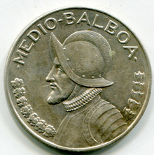 1932 Panama 1/2 Balboa AU55