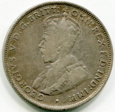 1933 Australia Florin KM#27  VG