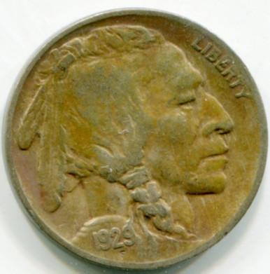 1929 D  Buffalo Nickel  VF