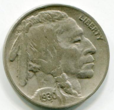 1930  Buffalo Nickel  XF40