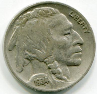 1934 Buffalo Nickel VF
