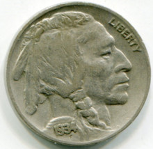 1934 Buffalo Nickel VF