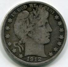 1912 D Barber Half dollar F