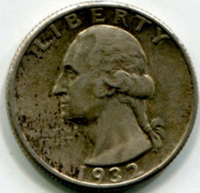 1932 Washington Quarter AU58