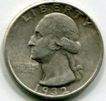 1932 Washington Quarter AU50