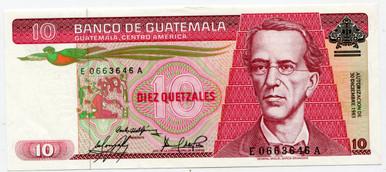 1983 Guatemala 10 Quetzales P#68   UNC