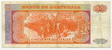 1987 Guatemala 50 Quetzales P#70    XF