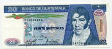 1983 Guatemala 20 Quetzales P#69   UNC