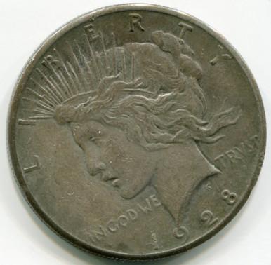 1928 Peace Dollar  Net VF