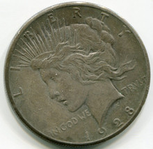 1928 Peace Dollar  Net VF
