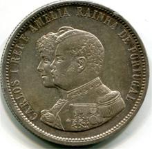 1898 Portugal 1000 Reis KM#539 VF-30