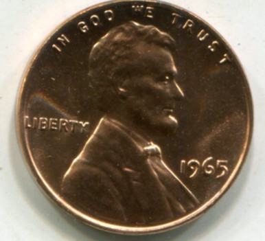 1965 SMS US Lincoln Cent MS-65