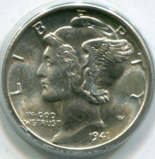 1941-D Mercury Dime MS65 FB