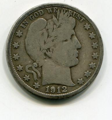 1912 D Barber Half Dollar VG-10