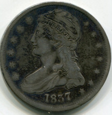 1837 Capped Bust Half Dollar VF-30