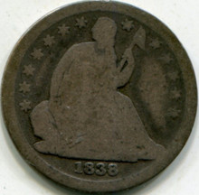 1838 Seated Liberty Dime G