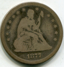 1877-S Liberty Seated Quarter VG