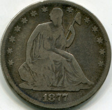 1877 Liberty Seated Half Dollar VG