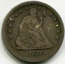 1876-S Liberty Seated Half Dollar VF