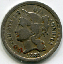 1881 Three Cent Nickel F