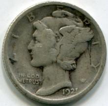 1921 Mercury Dime F