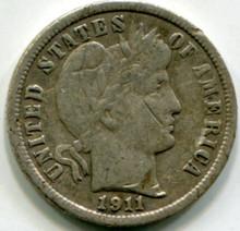 1911-D Barber Dime F